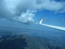 Flying North, looking at St. John, on a great soaring day